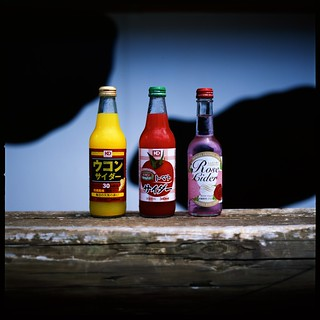mystery colorful bottle (^_^;)  (HASSELBLAD 500C/M) | by potopoto53age