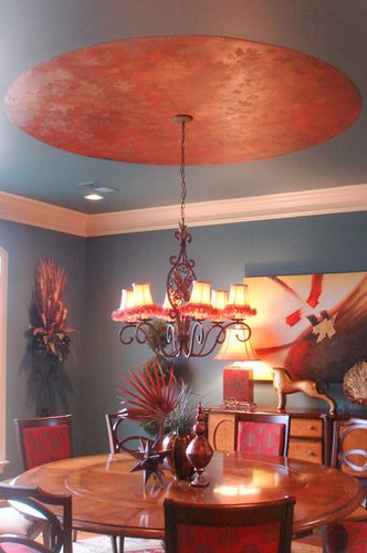 whimsical dining room ceiling  ceiling    bor flickr