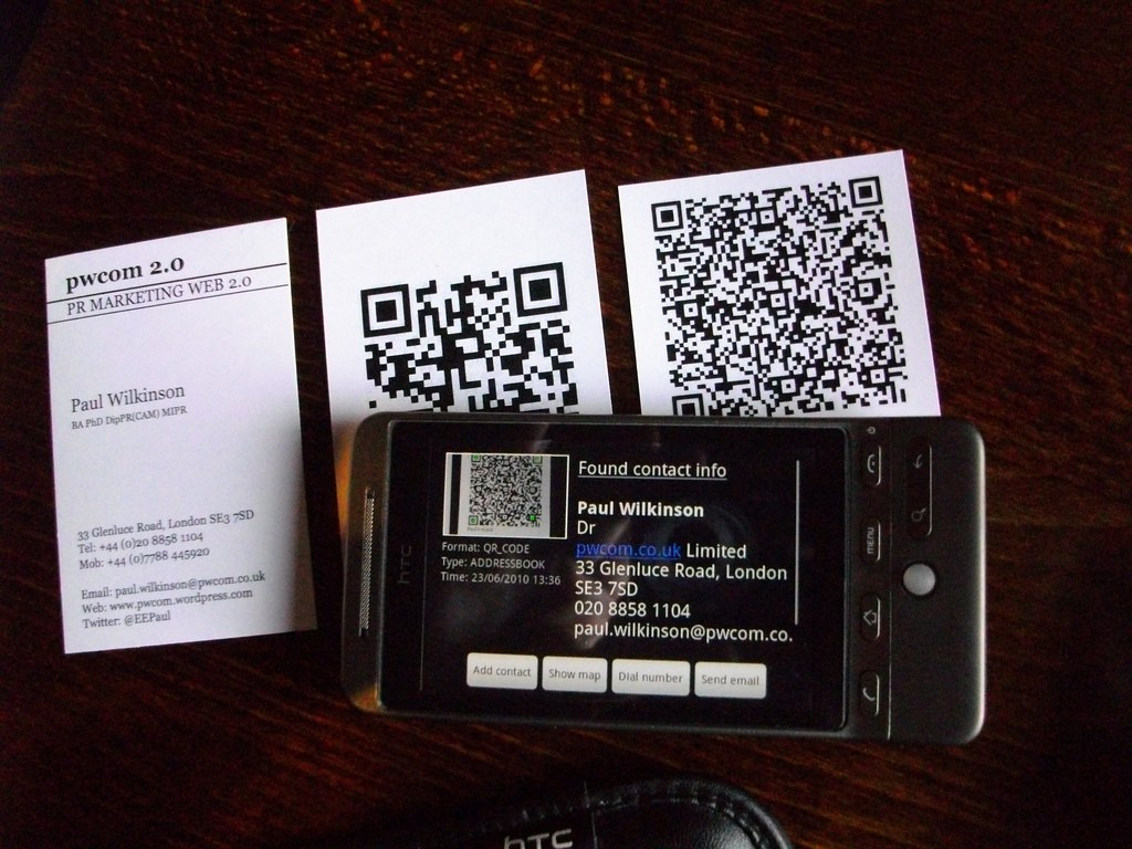 QR codes on business cards | Business cards, two versions, w… | Flickr