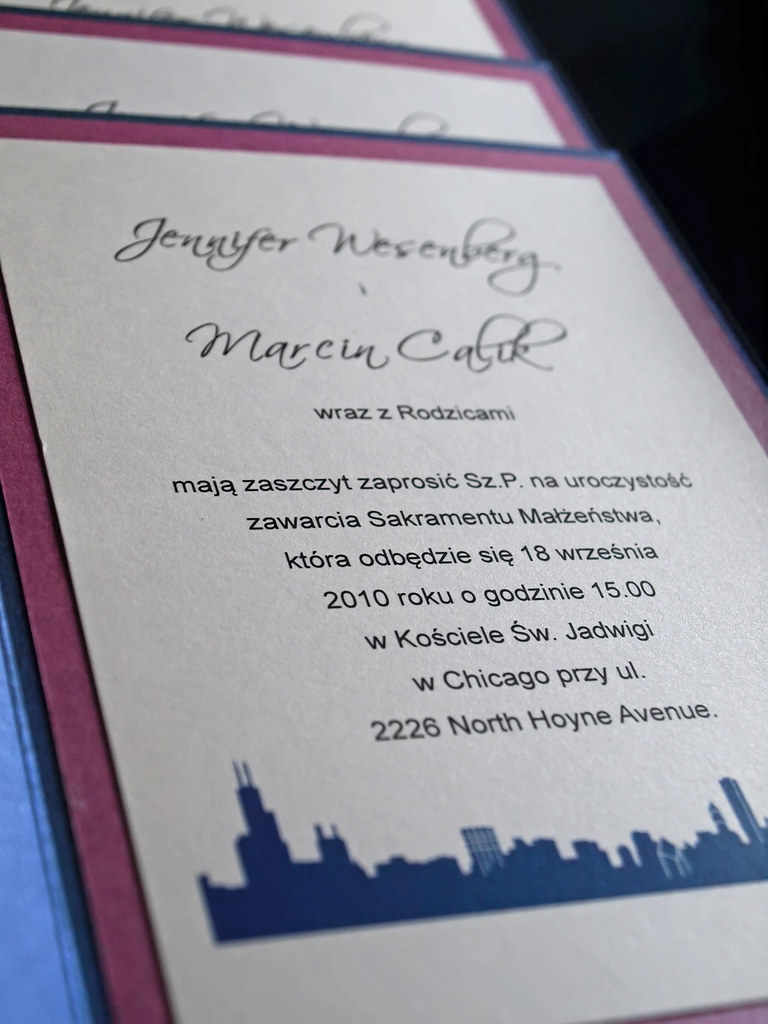 Polish Wedding Invitation Chicago Skyline Email Info E Flickr