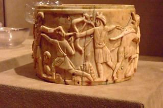 Ivory Pyx depicting the triumph of Dionysos in India Byzantine found in Rome made mid 500s CE possibly in Syria | by mharrsch