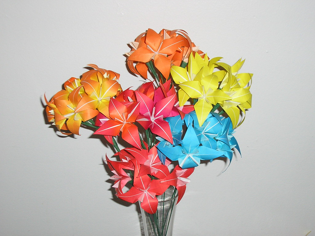 Origami Flower Bouquet Title Summer Flowers Creator Chri Flickr
