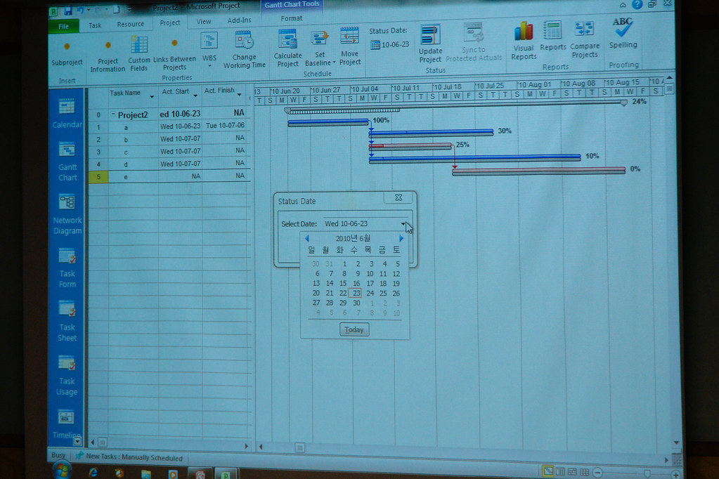 Gantt Chart Template Excel 2010: MS Project 2010 | MS Project 2010 | Peter (Tae-Young) Kim | Flickr,Chart