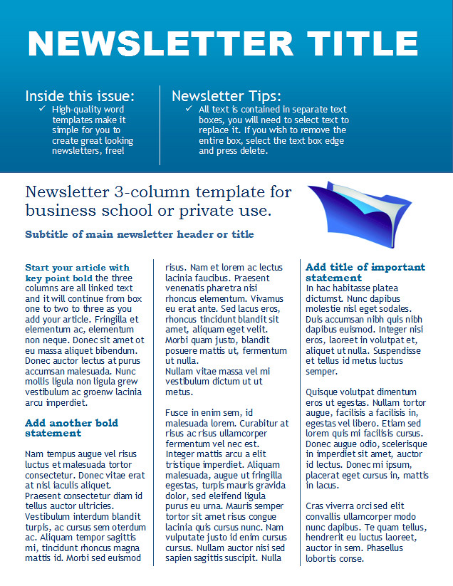 technology newsletter template download this free newslett flickr