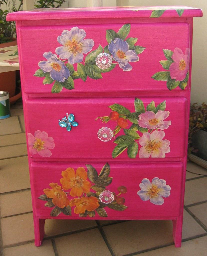 floral decoupage furniture vintage decoupage furniture by swamp dragon front including exfridge magnet