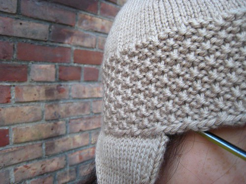 roman earflap hat - stitch detail | by mintyfreshflavor