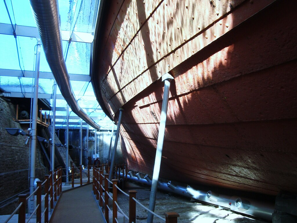 ss Great Britain ... below the waterline, warm.