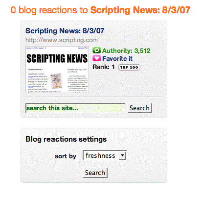 Number one on Technorati!! Hooooray! | by scriptingnews