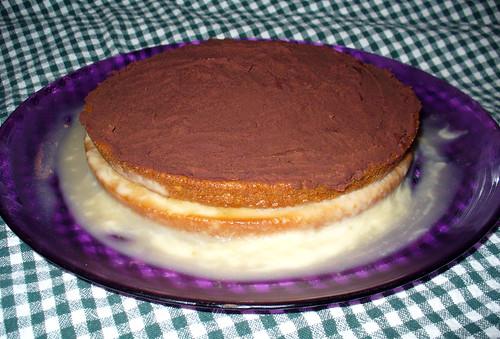 Boston Cream Pie Poke Cake Sheet