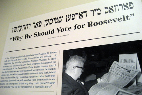 NYC - UES - MCNY: Jewish Daily Forward: Embracing an Immigrant Community - Why We Should Vote for Roosevelt | by wallyg
