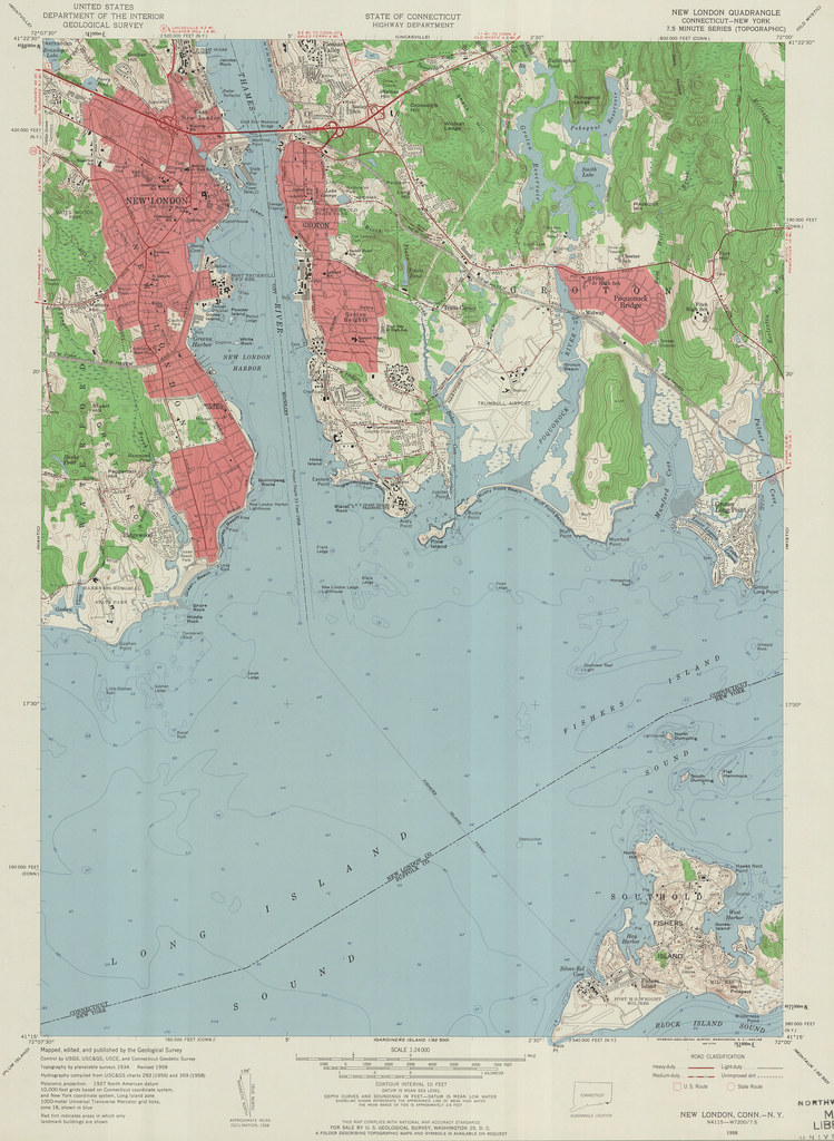 Topographic Map London.New London Quadrangle 1958 Usgs Topographic Map 1 24 000 Flickr