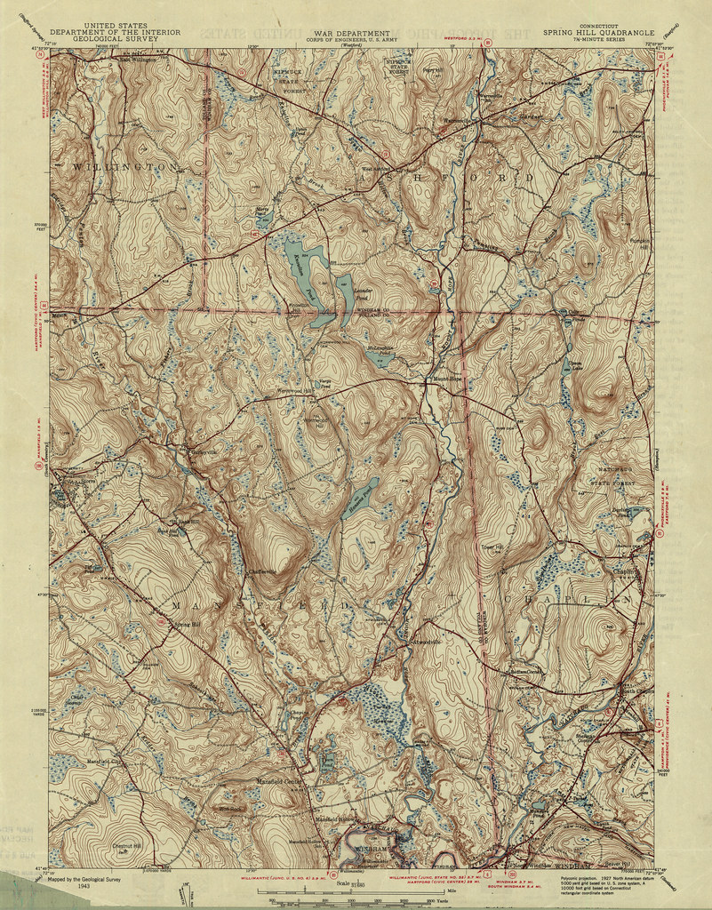 Hill Topographic Map.Spring Hill Quadrangle 1943 Usgs Topographic Map 1 31 68 Flickr