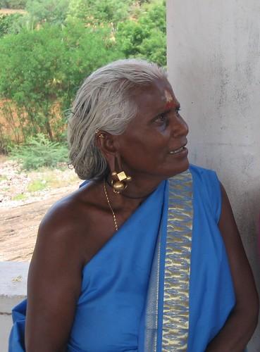 oldlady with ear rings...