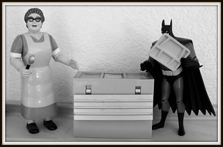 """Don't let anyone see I'm getting the fried cheese balls,"" said Batman. 