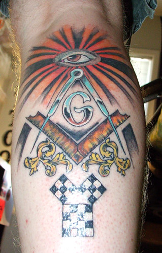Masonic tattoo i 39 m a sucker for checkered pavement for New tattoo laws
