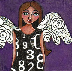 Lucky Numbers Angel - folk art | by folkartblonde