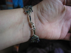 another knitter wire and bead bracelet | by Fiber Star