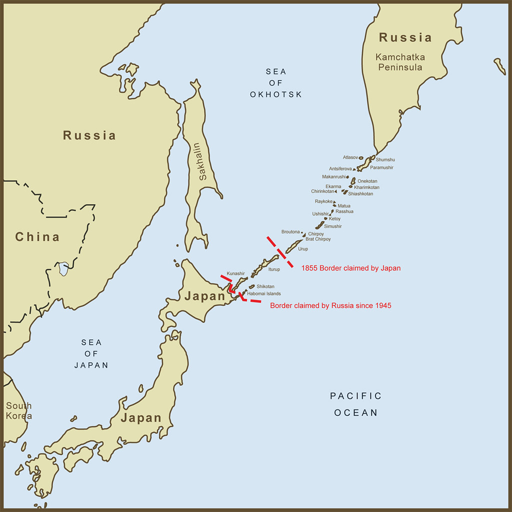 A Map Of The Kuril Islands Border Dispute Between Japan An Flickr - Japan map 1945