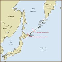 A Map Of The Kuril Islands Border Dispute Between Japan An Flickr - Japan map islands