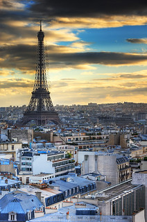 Eiffel Tower and Paris Roofs at sunset | davidgiralphoto.com | by David Giral | davidgiralphoto.com