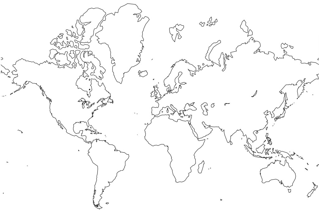 Blank World Map   no borders | Jason Rhode | Flickr
