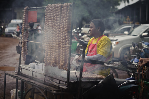 Thai Market Man with Smoky Sausages | by goingslowly