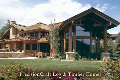 ... Custom Timber Frame Home Design | Located In Sun Valley Idaho |  PrecisionCraft Timber Frame Homes