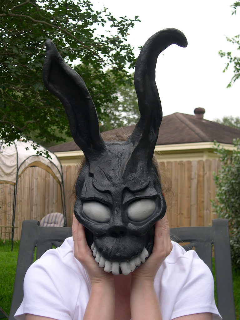 Frank the bunny mask painted | Frank the Bunny mask painted.… | Flickr