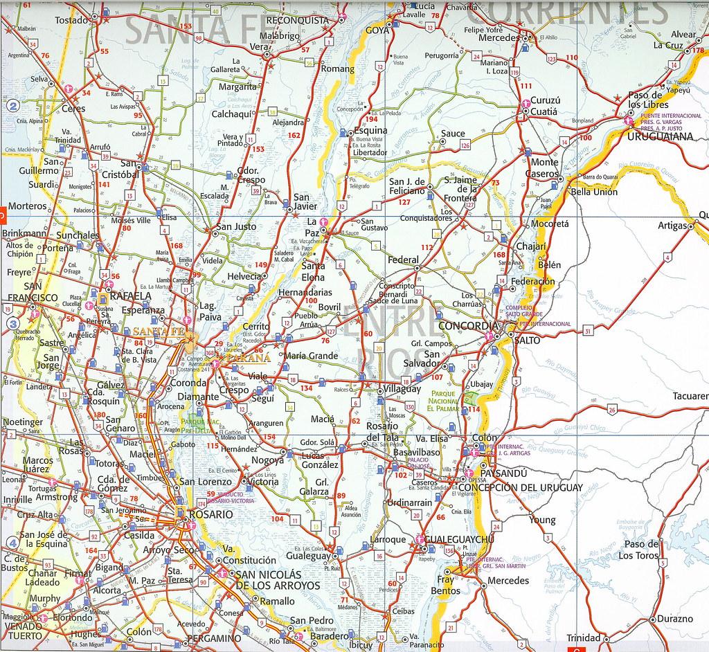 Mapa rutas argentinas Argentina road map Douglas Fernandes Flickr