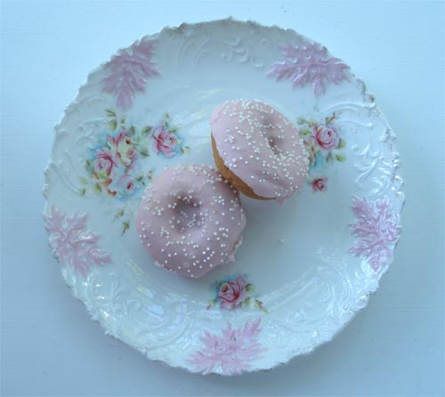 Doughnuts on China Plate | by such pretty things