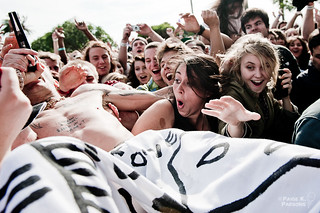 Ninja of Die Antwoord crowd surfs at TIMF | by gussifer | thecolorawesome.com