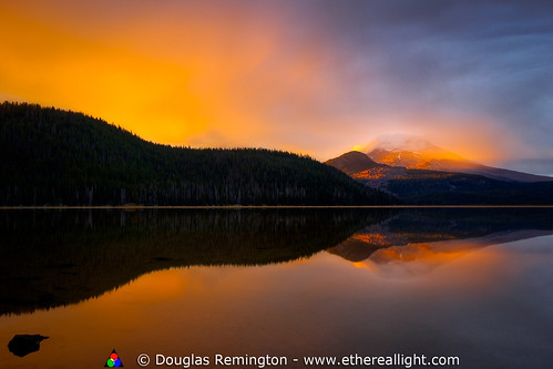 Wall of light, Sparks lake, Oregon. | by Douglas Remington - Ethereal Light® Photography