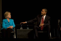 Hillary Clinton & Barack Obama at YearlyKos 2007 | by Son of Broccoli