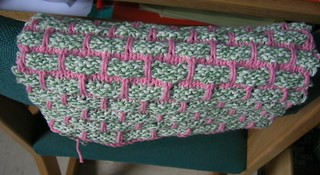 Pink/Green Dishcloth | by allie1123488