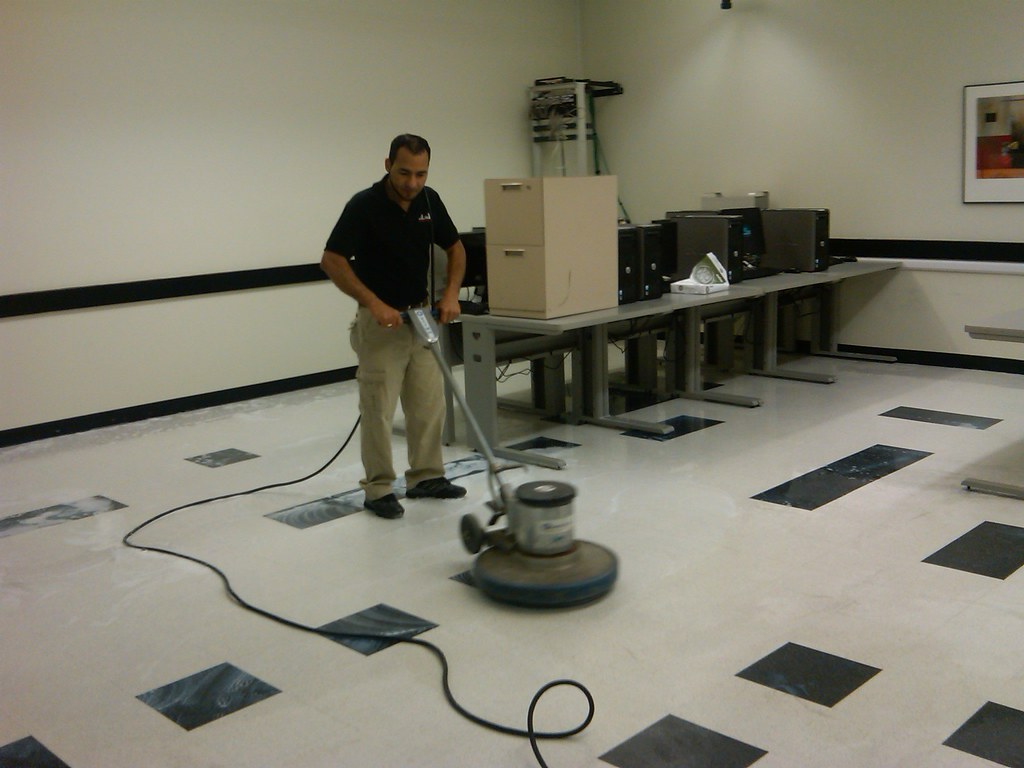 Striping Waxing Tile Floors For More Information On Stri Flickr