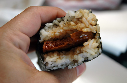 Spam Musubi in progress - Fuji's Famous Burgers | by Marshall Astor - Food Fetishist