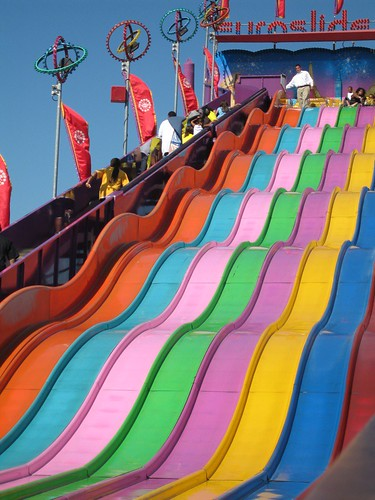 The Good Ride >> Rainbow slide | I love these giant slides, where you ride ...