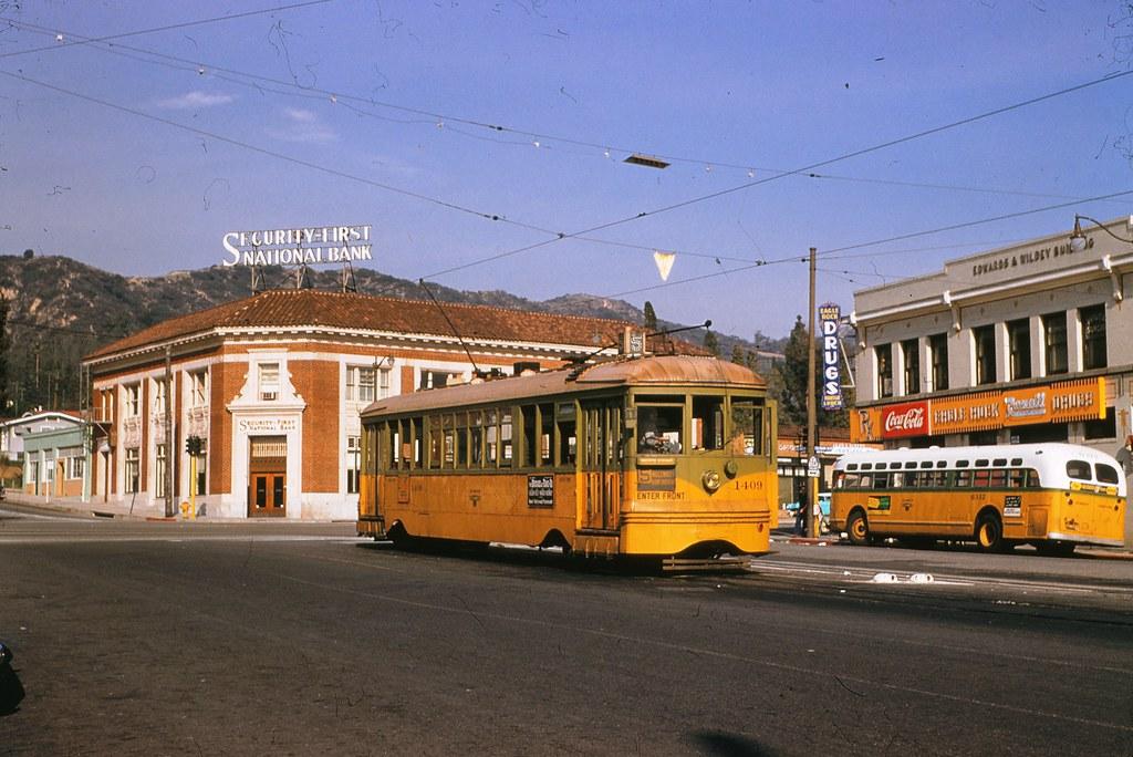 001 - L.A.T.L. 5 Line Car 1409 Eagle Rock & Colorado Blvds. 19550126