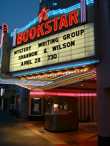 Movie Theatre Marquee Converted To Bookstar I Hate To