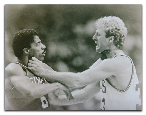 Larry Bird Choking Julius Erving | by The Smoking Section
