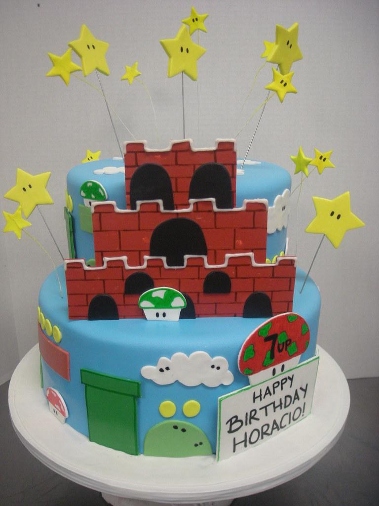 Super Mario Castle Birthday Cake 472 Asweetdesign Flickr