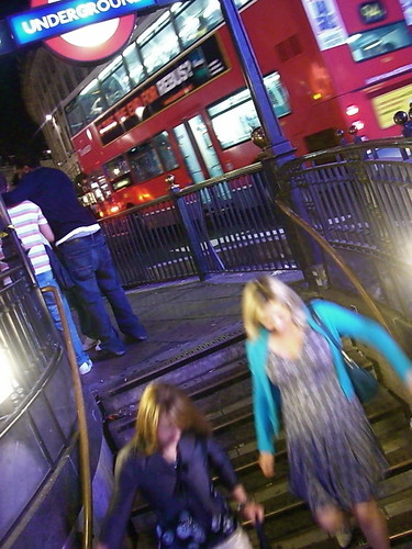 Blue night life - red bus | by Claire Tamara Davies