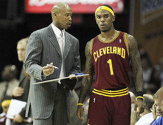Coach Scott works with Booby | by Cavs History