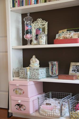 Craft room shelves more goodies freckledfarm flickr for Setting up a craft room