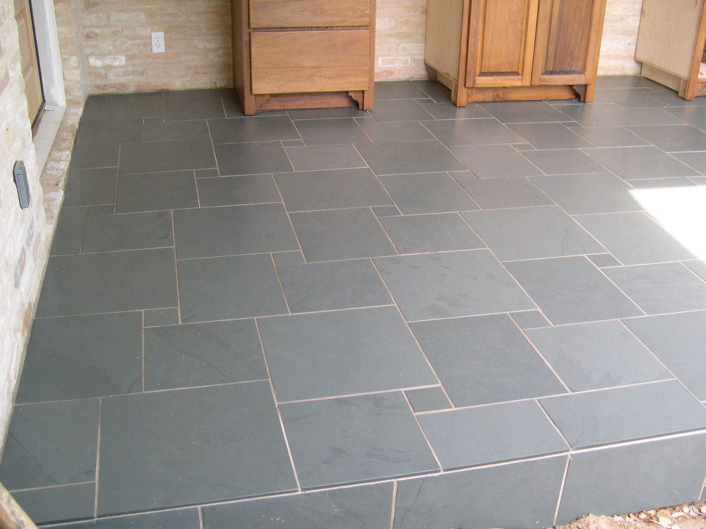 Good ... Slate Tile Patio Floor | By Rebeccajc