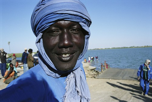 Young man on bank of Senegal River. | by World Bank Photo Collection