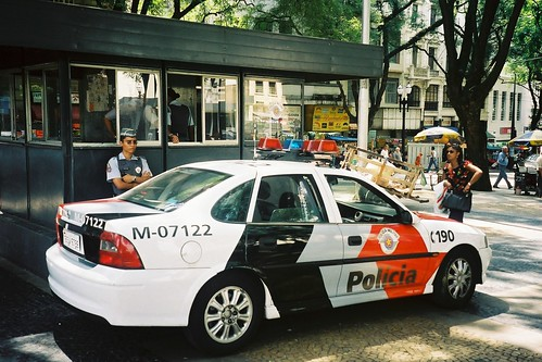 Officer and Police Car
