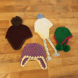 Q and E (Quick and Easy) Earflap Hat Crochet Pattern (Sizes Newborn to Adult) | by Easymakesmehappy
