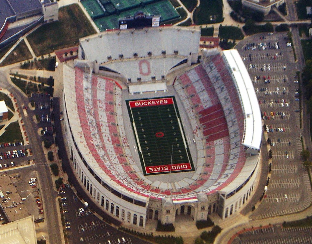 ohio stadium columbus ohio stadium the horseshoe on ohi flickr