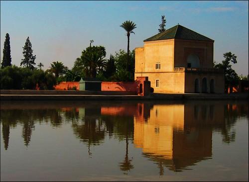 Estanque de la menara estanque principal de los jardines - Estanque de jardin ...